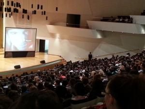 Auditorio del ADDA. Ponencia de Josef Ajram.