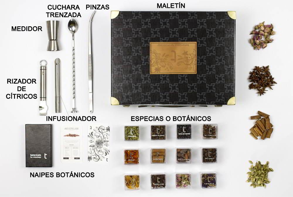 contenido maletin mixologia Toque Especial