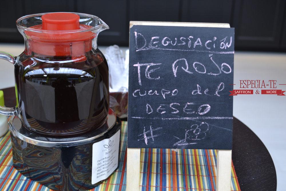 degustación té rojo